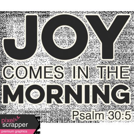 Scripture Word Art - Joy