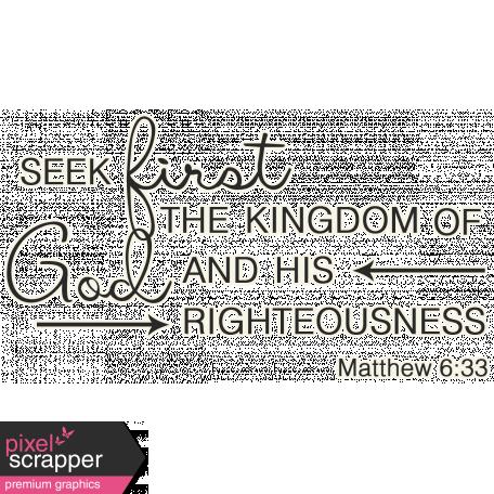Scripture Word Art - seek first