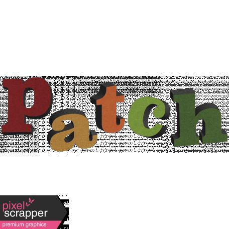 Pumpkin Patch Word Art 02
