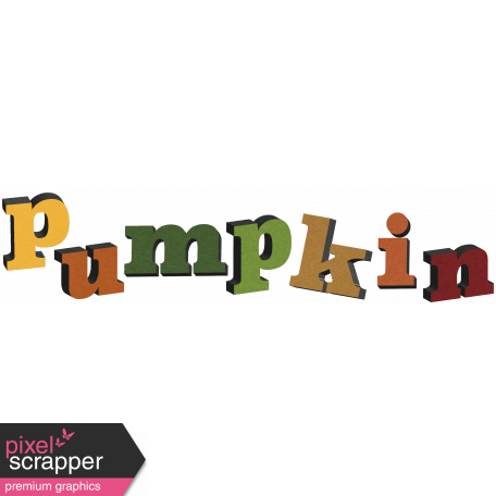 Pumpkin Patch Word Art 01