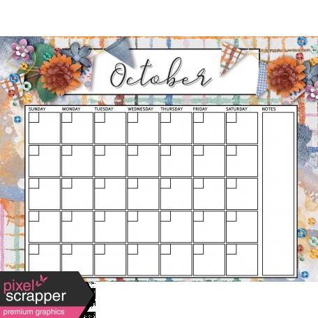 Blue Jeans & Sneakers October Calendar