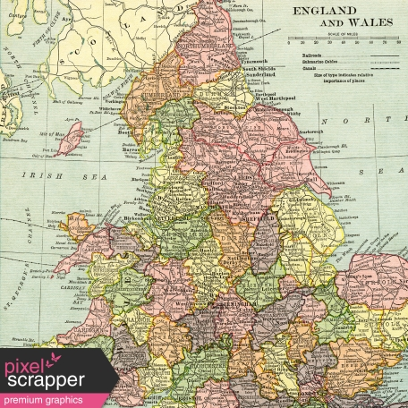 Map Of England Vintage.Vintage Maps Kit Map 03 England Wales Graphic By Sheila Reid