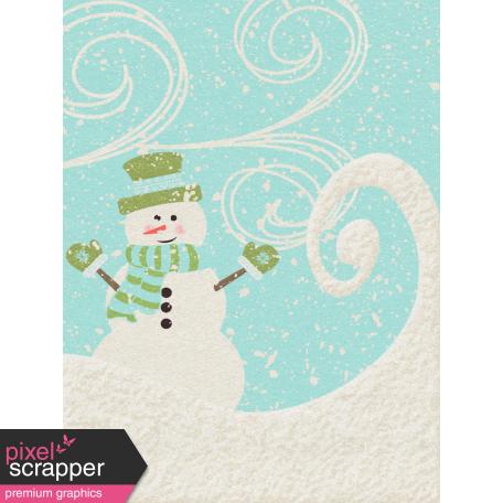 Sweater Weather - Journal Card - Snowman