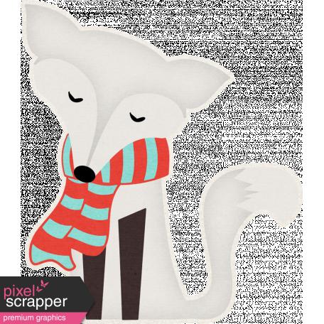 Sweater Weather - Snow Fox Sticker