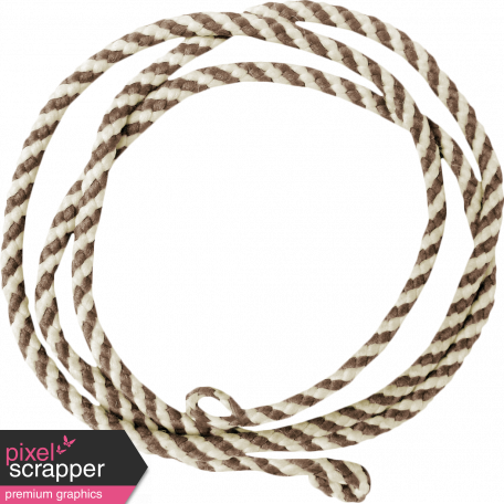 Sweater Weather - Brown Striped String Circle