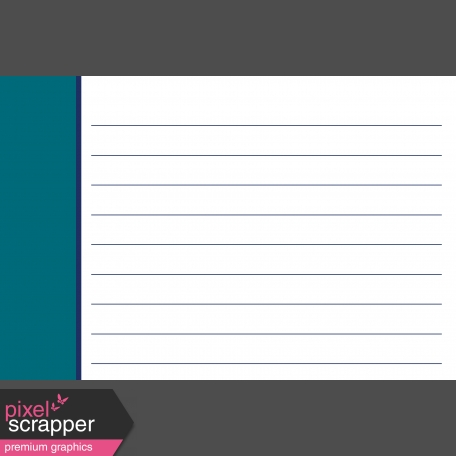 Pocket Basics 2 Classic Journal Card Templates - Layered Template - Sidebar