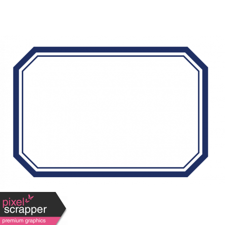 Pocket Basics Label Layered Template Rectangle Extra Large - Rectangle label template