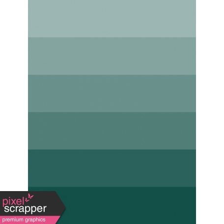 A Good Life In Pockets - January 2019 Filler Cards - Teal Striped Ombre (3x4)
