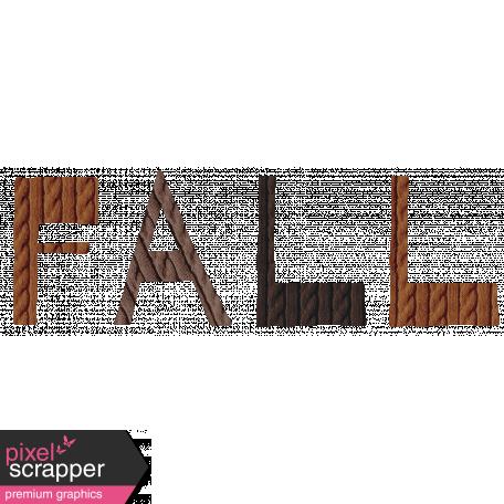 Autumn Day Mini Kit Vol. 1 Word Art - Fall (Knit)