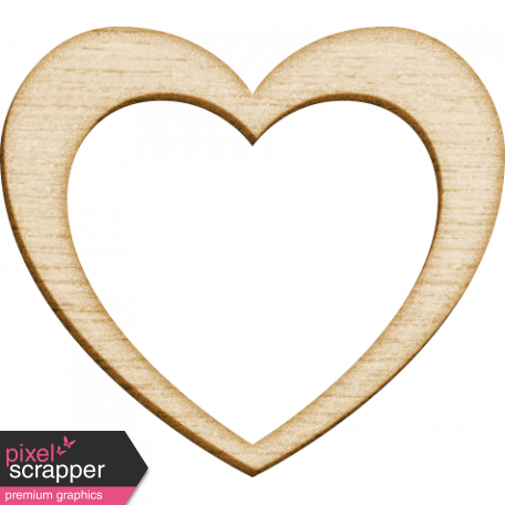 Spread Your Wings - Wood Heart Large