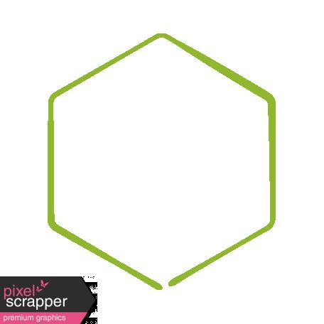 XY Doodle - Lime Hexagon Medium 3