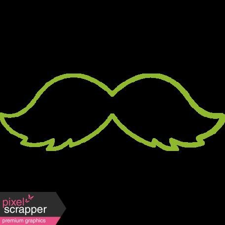 XY Doodle - Lime Moustache 1