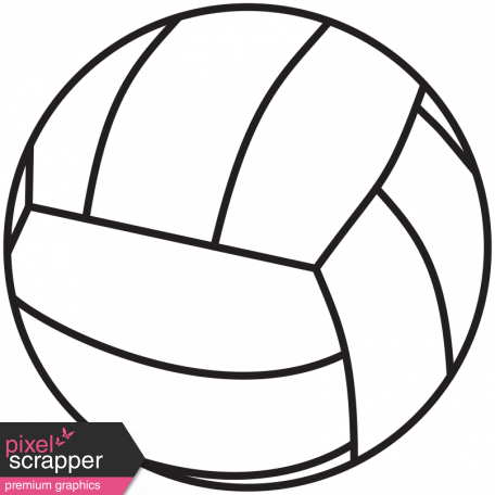 photograph relating to Volleyball Printable titled Example Volleyball Template image via Marisa Lerin