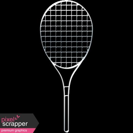 Sports Wire Tennis Racket Graphic By Marisa Lerin Pixel Scrapper