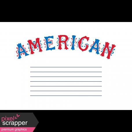 Public Discourse Pocket Card 4x6 American