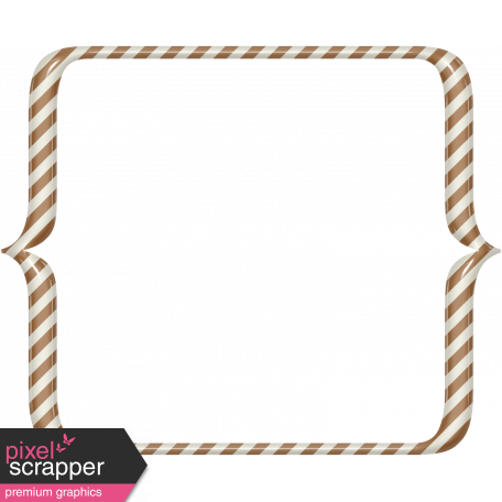 Boo Striped Bracket Frame graphic by Marisa Lerin Pixel Scrapper
