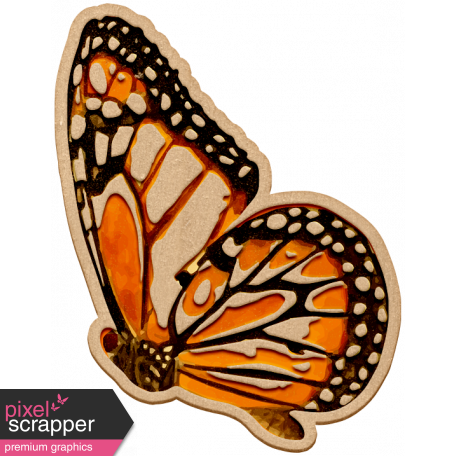 Seriously Butterflies Elements - Wood Butterfly 01