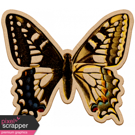 Seriously Butterflies Elements - Wood Butterfly 03