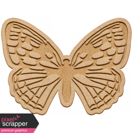 Seriously Butterflies Elements - Wood Butterfly 06
