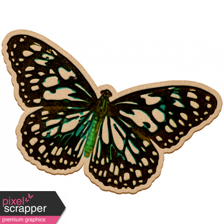 Seriously Butterflies Elements - Wood Butterfly 09