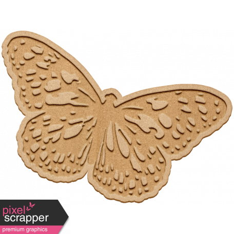 Seriously Butterflies Elements - Wood Butterfly 10