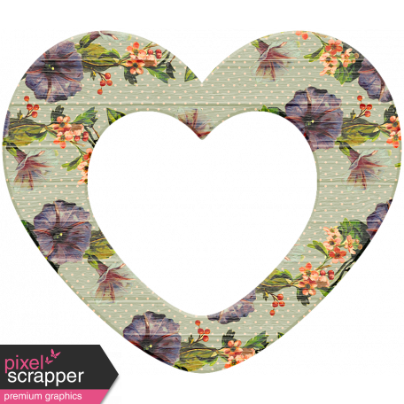 Seriously Floral 2 Elements Kit Wood Heart 2 Graphic By Marisa