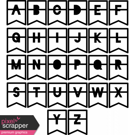 Alpha Templates Kit #6 - Cutout Tabs 1 Letters