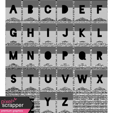 Alpha Templates Kit #6 - Cutout Tabs 3 Letters