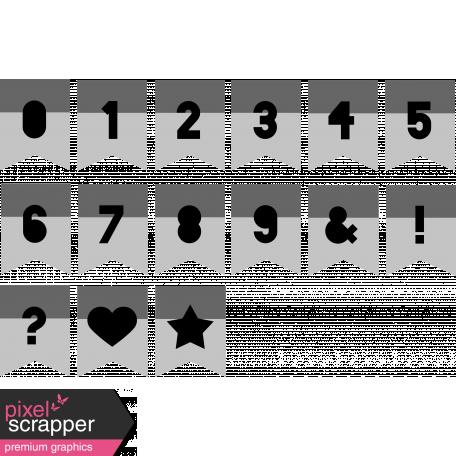 Alpha Templates Kit #6 - Cutout Tabs 3 Numbers