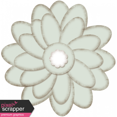 paper flower gray template