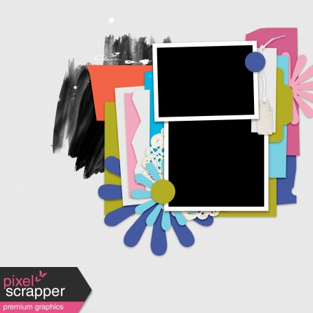 Layout Template Kit #36 - Template D