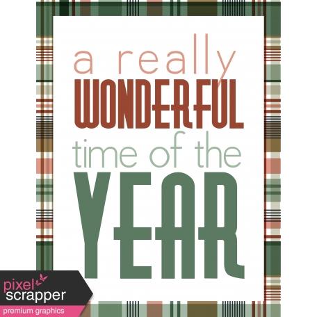 The Good Life December: Art Print A 8.5x11