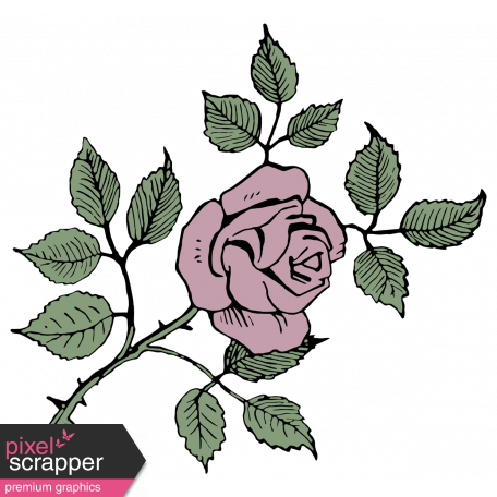 SciFi Elements - Sticker Rose 1