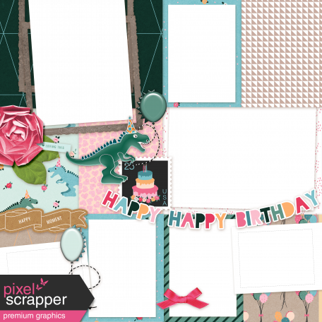 Birthday Quick Pages Kit - Quick Page 2