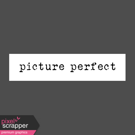 The Good Life: February Words & Tags - Picture Perfect Word Strip