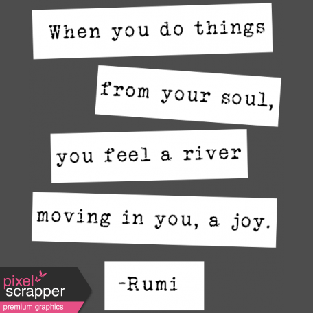 The Good Life: February Words & Tags - River Of Joy Word Strip