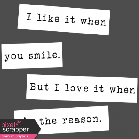 The Good Life: February Words & Tags - Smile Word Strip