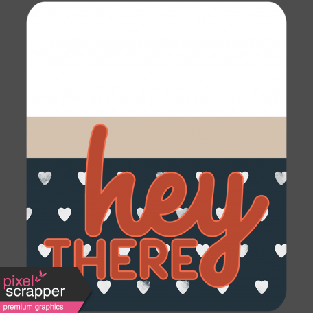 Wild Child Words & Tags - Word Art Tag Hey There