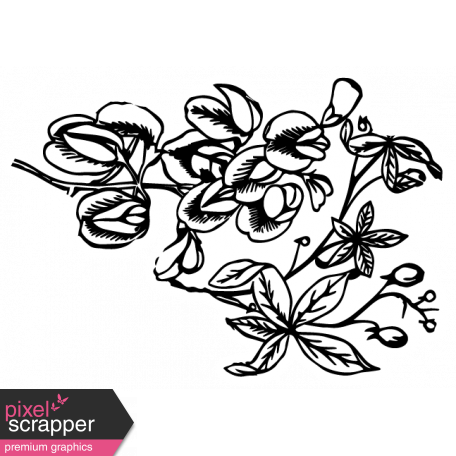 The Good Life: February Elements - flower sticker 1