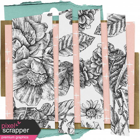 The Good Life: March Clusters - Scrap Layers 05