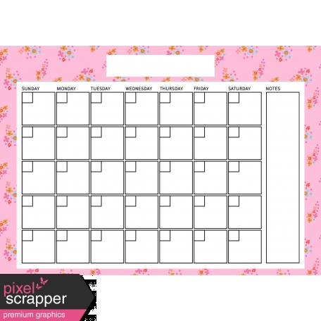 The Good Life: April Calendars - Calendar 3 5x7