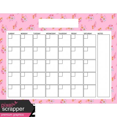 The Good Life: April Calendars - Calendar 3 8.5x11