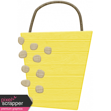Spring Cleaning Elements - Wood Bucket