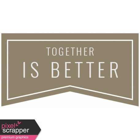 Spring Cleaning Words & Tags Kit: together is better