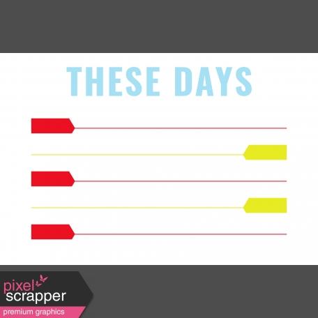Journal Card Templates Kit #2 - t 4x6