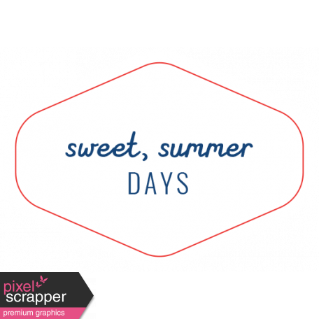 Americana Elements - Label Sweet Summer Days