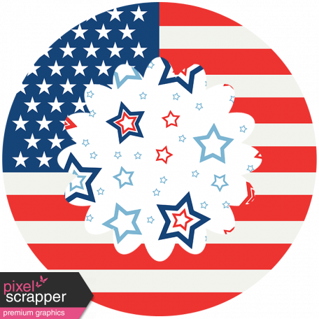 Americana Elements - Print Flower 3
