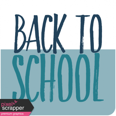 The Good Life: September 2019 Words & Labels Kit - Back to School