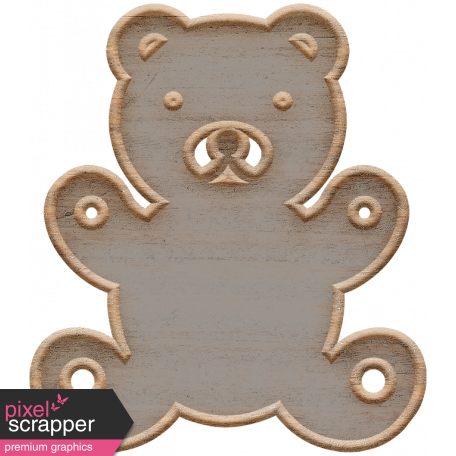 Templates Grab Bag Kit #23: wood teddy bear template