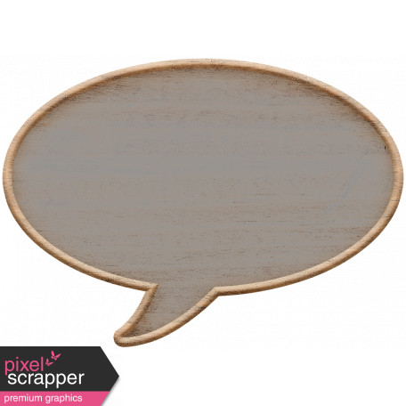 Templates Grab Bag Kit #23: wood talk bubble template
